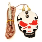 J200 Skull Individuality Power Pedal for All Kinds of Power Supply of Tattoo Machine - Silver + Red