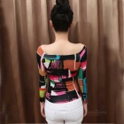 Women's Korean Style Cotton Long-Sleeve Top - Multicolored (L)