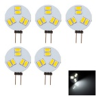 G4 3W LED Light Lamp Cool White Light 163lm 6-SMD 5630 - White (5PCS)