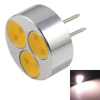 G4 3W LED Small Spotlight Warm White Light 3000K 240lm 3-COB - Silver + Black (12V)