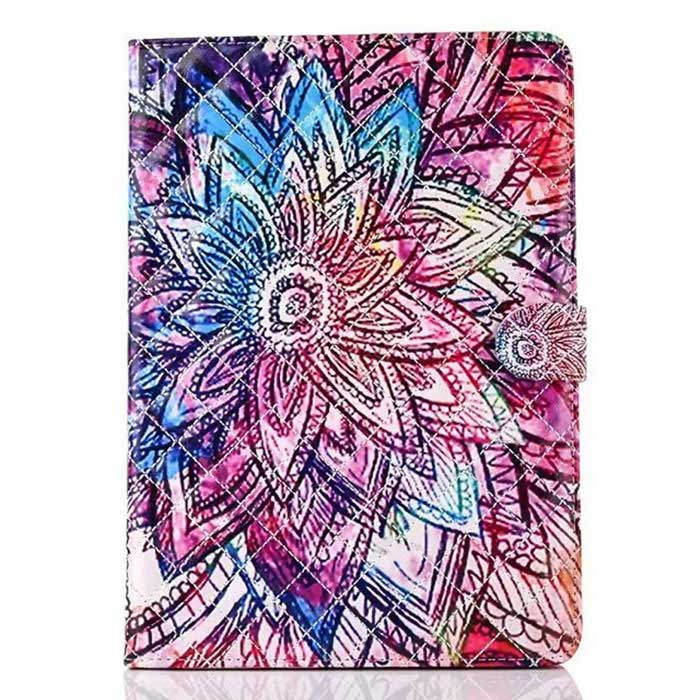 Protective Patterned PU Case w/ Stand for IPAD AIR 2 - Multi-Colored