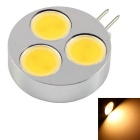 G4 4.5W LED Small Spotlight Warm White Light 3000K 360lm 3-COB - Silver + Black (12V)