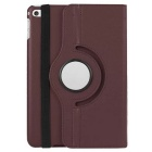 Smart PU Leather Case Cover w/ 360' Rotating Stand & Auto Sleep / Wake-up for IPAD MINI 4 - Brown