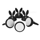 Rabbit's Ears Shape Wire Cable Desktop Clip Organizer - Black (6PCS)