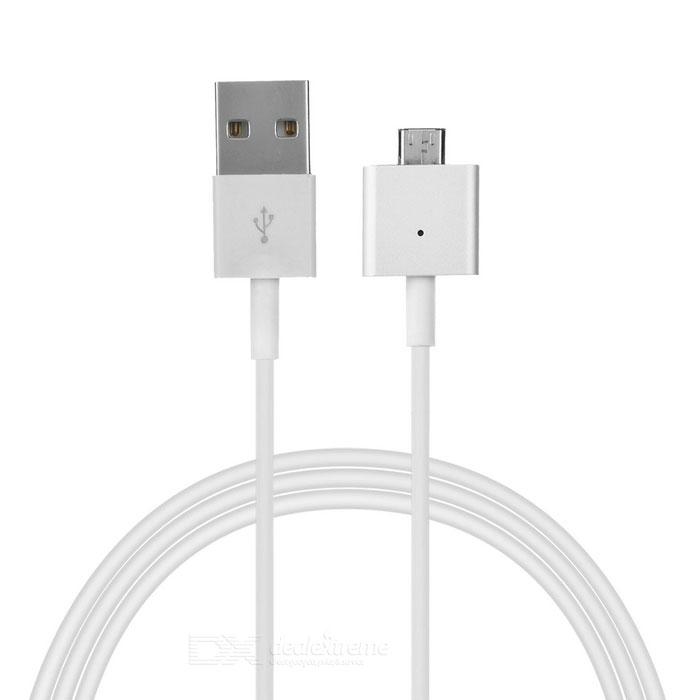 Micro USB Magnetic Charging Data Cable - White (100cm)