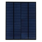 4.5W 20V 0.225A PET Polycrystalline Solar Power Panel - Black + Deep Blue