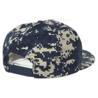 "Unisex Cool ""USA"" Pattern Hip-Hop Baseball Flat Peak Cap Hat - Navy"
