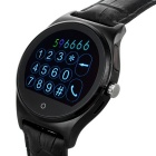 Bluetooth 4.0 Smart Watch w/ Heart Rate Monitor, Remote Camera - Black