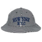 Embroidered Striped UV Protection Outdoor Fishing Brim Hat Cap Sunhat - White + Black + Multicolor