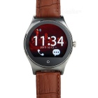 RWATCH R11 Bluetooth 4.0 Smart Watch w/ Heart Rate Monitor / Remote Camera / Genuine Leather Strap
