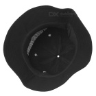 Embroidered UV Protection Outdoor Fishing Sunhat - Black + White