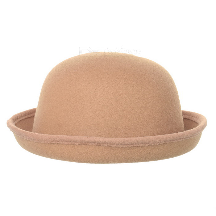 Fashionable Dome Wool Hat for Women - Light Tan