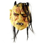 Halloween fiesta cosplay hinchada frente 4-Horns monster face mask