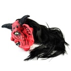 Satan Devil Rubber + Nylon Mask for Cosplay Costume Party - Red