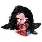 Curly Hair Big Eyes Ghost Rubber + Nylon Mask for Cosplay - Black