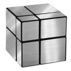 2 x 2 x 2 Mini Brushed Black Checkered Mirror Pocket Cube Puzzle Toy
