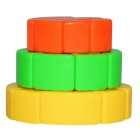 3x3x3 New Small Colorful Cake Shaped Magic IQ Cube Puzzle Toy - Multi-Color