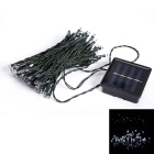 Solar Powered 10m 50-LED White Light Indoor Outdoor Wedding Christmas Party String Light