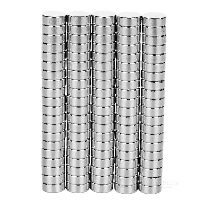 D10*4mm Cylindrical NdFeB Magnet - Silver (100PCS)