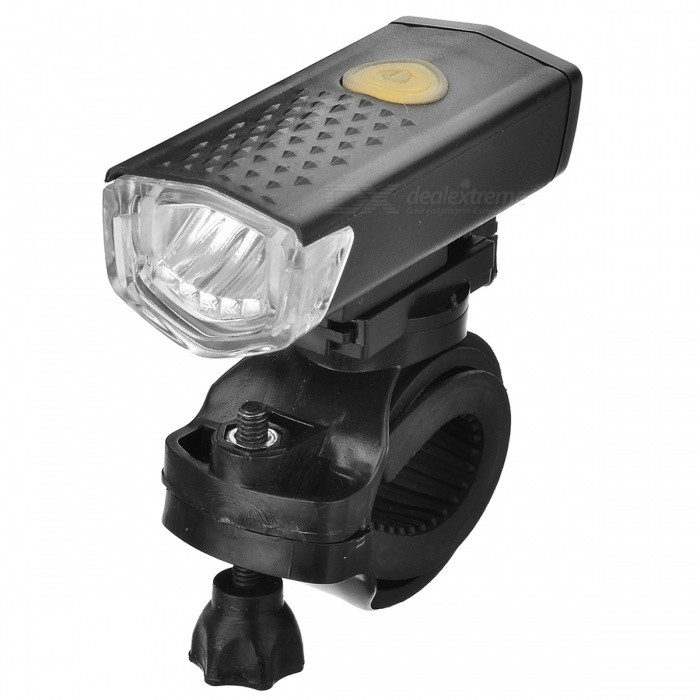 CTSmart USB Powered 3-Mode 3-LED Bike Headlamp White - Black