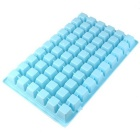 60-Compartment Rectangular Ice Cube Tray / Ice Maker Mold - Blue