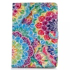 Fashion Patterned Protective PU Leather Case w/ Stand & Card Slots for IPAD AIR 2 - Multi-Color
