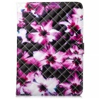 Fashion Patterned Protective PU Leather Case w/ Stand & Card Slots for IPAD AIR 2 - Black + White