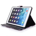 Protective PU Case w/ Stand, Card Slots for IPAD AIR 2 - Black + White