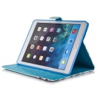 Protective PU Case w/ Stand, Card Slots for IPAD AIR 2 - Blue + Red