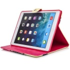 Protective PU Case w/ Stand, Card Slots for IPAD AIR 2 - Red + Yellow