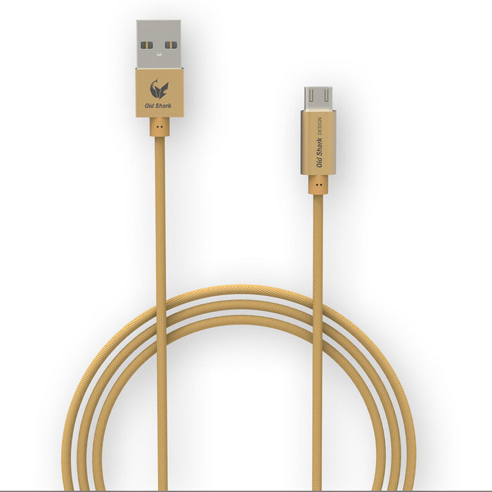 OLDSHARK 1m Micro USB Charging Cable for Samsung S6 / HTC - Golden