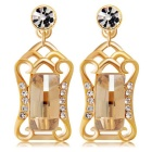 Elegant Magic Crystal Earrings - Golden