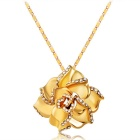 Xinguang Gold Rose Style Necklace for Women - Gold