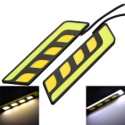 Marsing 10W White & Yellow Light COB LED Car Daytime Running Light & Steering Lamp