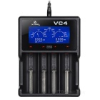 Xtar VC4 USB 4-Slot Li-ion Charger w/ LCD Screen for All Batteries - Black