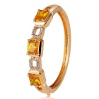 Xinguang Splicing Square Crystal Bracelet for Women - Gold