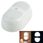 3W 10-LED Body & Light Sensor Portable Lamp - White (3*AAA)