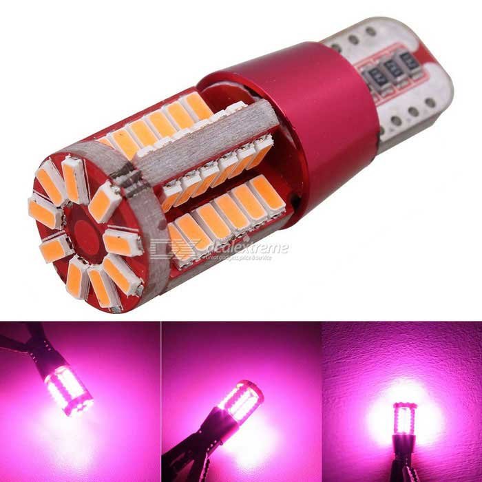 MZ T10 5W Pink 57-LED Car Decode Error-Free Canbus Clearance Lamp