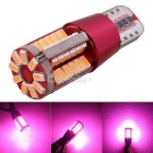 MZ T10 5W LED Car Decode Error-Free Canbus Clearance Lamp / Door Light Pink 57-4014 SMD (12V)