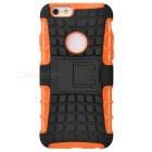 Protective ABS Back Cover Armor Case w/ Stand for IPHONE 6S - Orange + Black