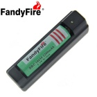 FandyFire US Plugss Charger + 2000mAh 18650 Rechargeable Battery