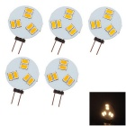 G4 3W LED Lamp Modules Warm White Light 3000K 160lm 6-SMD 5630 - White (DC 12V / 5PCS)