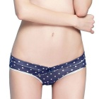 JoynCleon Women's Combed Cotton Maternity Panties Underwear - Blue + White (Size XL)