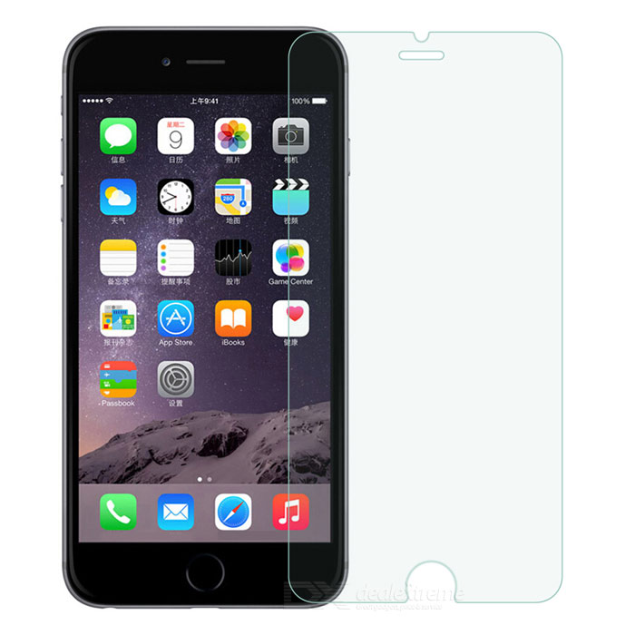 9H Tempered Glass Film for IPHONE 6 PLUS / 6S PLUS - TransparentScreen Protectors<br>Screen TypeClearQuantity1 DX.PCM.Model.AttributeModel.UnitMaterialTempered glassForm ColorTransparentCompatible ModelsIPHONE 6S PLUS,IPHONE 6 PLUS,Others,IPHONE 6S PLUSStyleScreen protectorScreen FeaturesScratch Proof,Explosion ProofPacking List1 x Screen protector1 x Cleaning cloth1 x Wet tissue<br>