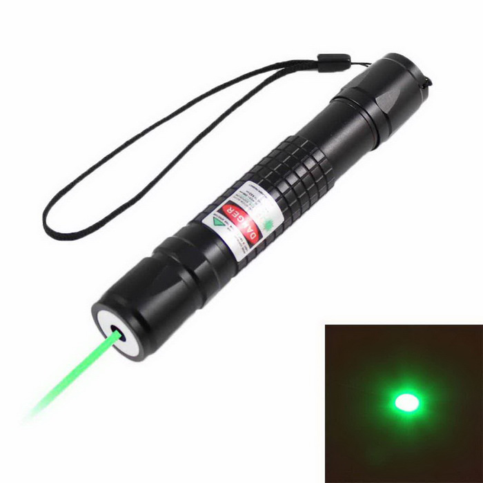 KF-681 532nm Green Square Laser Pointer - Black (1*18650)Laser Pointer<br>Form ColorBlackQuantity1 DX.PCM.Model.AttributeModel.UnitMaterialAluminum alloyLaser Power5 DX.PCM.Model.AttributeModel.UnitWave Length532 DX.PCM.Model.AttributeModel.UnitLaser ColorGreenOutput ModeOptical PumpExcitation ModeOptical PumpWorking modeContinuous laserWorking Voltage   3.6~4.2 DX.PCM.Model.AttributeModel.UnitSpot Mode (Spot size)Battery1x18650 Battery (no included)Packing List1 x Green Laser Pointer<br>