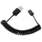 Cwxuan USB-C 3.1 M to Standard USB 2.0 A M Spring Cable - Black (1m)