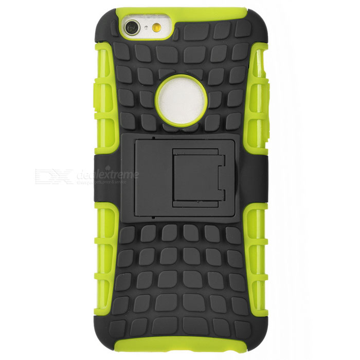 ABS Back Cover Armor Case w/ Stand for IPHONE 6S - Green + Black
