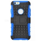 Protective ABS Back Cover Armor Case w/ Stand for IPHONE 6S - Blue + Black
