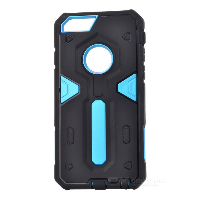 PowerRangers Style TPU + PC Back Case for IPHONE 6S - Black + Blue