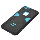 2-in-1 Detachable TPU + PC Back Case for IPHONE 6S PLUS - Black + Blue